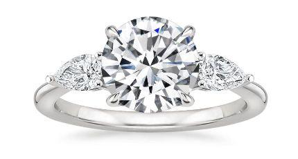 Three Stone Setting For Lab Grown Diamond Engagement Rings